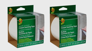 2 duck White Carpet Tape In outdoor Moisture Resistant 2 44 W X 15 Ft L 286519