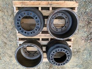 Four New Gunite 3890 Heavy Truck Brake Drums Fits Volvo 9 And Others