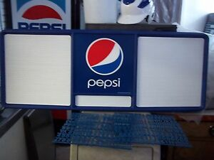L k New 4ft Pepsi cola Menu Board W 3 Sets Of Letters Numbers