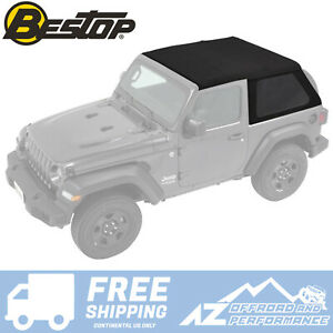 Bestop Trektop Nx Soft Top For 18 20 Jeep Wrangler Jl 2 Door Black Diamond