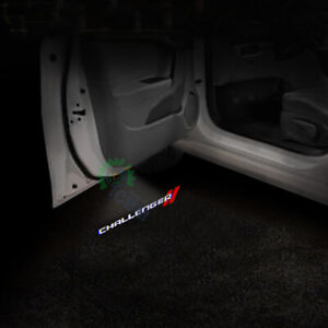 No Drill Cree Led Door Welcome Projector Shadow Light For Dodge Challenger 08 19