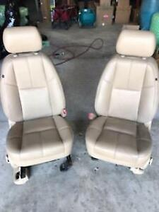 12 13 14 Tahoe Avalanche Silverado Tan Leather Front Bucket Seats L R Opt A95