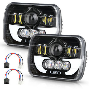 2x 300w 7x6 5x7led Headlight Drl For Chevrolet Jeep Cherokee Xj Newest Brightest
