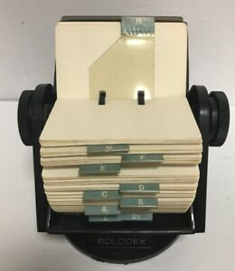 Rolodex Sw35c Plastic Large Round File Index Cards 360 Swivel Stand Usa Vintage