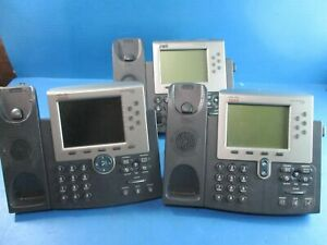 Lot Of 3 Mixed Cisco Ip Phones 7965 7961 7962 No Handsets Used