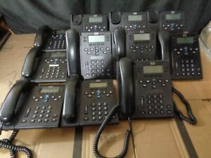 Cisco Cp 6945 Voip Ip Business Phone Lot Of 11 Missing 3 Headsets And 4 Stands