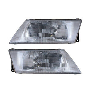 Headlights Front Lamps Pair Set For 95 99 Nissan Sentra 200sx Left Right