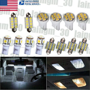 14x White Led Interior Package Kit Deal For T10 194 31mm Map Dome Lights Bulb