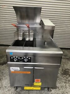 Dual Pot Split Tank Vat Gas Deep Fryer Dump Filter Frymaster Fmph155 2sc 1961