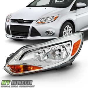 2012 2014 Ford Focus Chrome Halogen Headlight Headlamp Replacement Driver Side