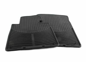 Bmw E46 3 Series Genuine Front Black Rubber All Weather Floor Mats