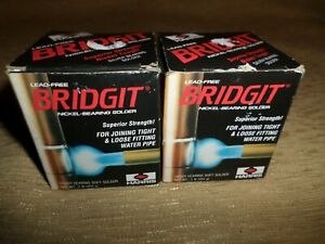 Lot Of 2 Rolls Harris Bridgit Lead Free Silver Bearing Soft Solder 1 8