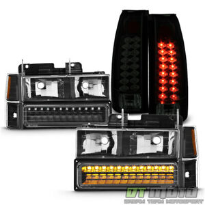 1994 1999 Chevy C K C10 Suburban Led Taillights Headlights Led Bumper Lamps Set