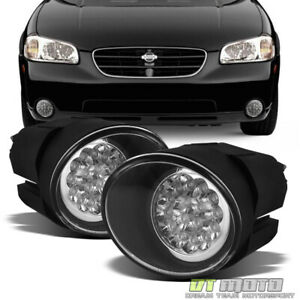 For 00 01 Maxima 01 02 Frontier 00 03 Sentra Super White Led Fog Lights W switch