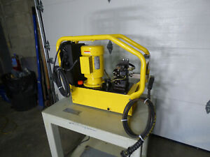 Enerpac 10 000 Psi Hydraulic Power Supply With Table Nice