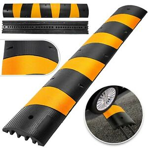 6ft Modular Rubber Speed Bumps Electric Parking Lot Traffic Control Warehouse
