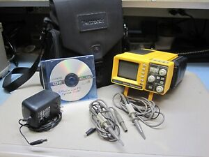 Tektronix 222ps Digital Oscilloscope probes case cd Manual Very Nice Condition