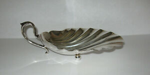 Fisher Sterling Silver 141 Scallop Clam Shell Footed Nut Candy Dish
