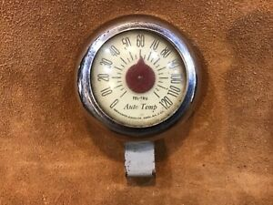 Antique Tel Tru Auto Temp Dash Thermometer Accessory Custom 1950 Ratrod Chevy 48