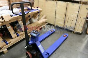 5 Year Warranty Pallet Jack Scale With Built in Printer 2 500 X 1 Lb Capacity
