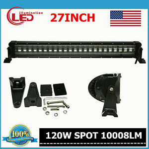 27inch 120w Strobe Flashing Led Light Bar Offroad Driving Trailer Vehicle Boat