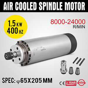 1 5kw Air Cooled Spindle Motor Er11 Four Bearing Mach3 Pwm Speed Controller