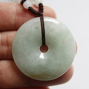 Certified Natural Jade A Gade Untreated Icy Light Green Yellow Jadeite Pendant