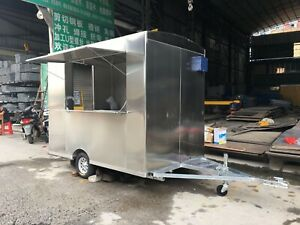 Bn 2 5mx1 6m Stainless Steel Concession Stand Trailer Mobile Kitchen Ship By Sea