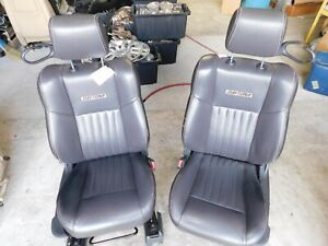08 09 10 12 13 Dodge Challenger Daytona Black Leather Front Bucket Seats Oem