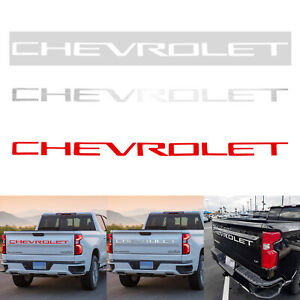 For Chevrolet Silverado 2019 2020 Decal Tailgate Insert Letters Stickers Vinyl