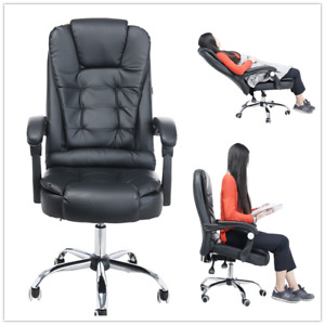 Office Home Chair Leather Desk Gaming Chair With Adjust Angle Seat Height Chair