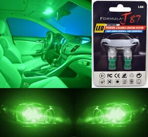 Led 5050 Light Green 168 Two Bulbs License Plate Replace Upgrade Smd Jdm Show
