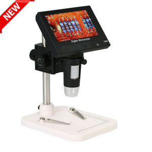 Portable Microscope 1000x 4 3 Lcd Display 720p Led Digital Magnifier With Holder