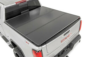 Rough Country Hard Tri Fold Bed Cover For 2019 Silverado Sierra 1500 5 8 Bed