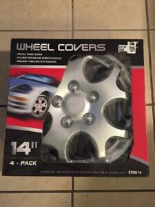 Kt Wheel Covers 14 Inch Set Of 4 New Universal Hub Caps New