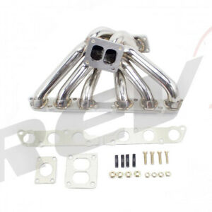 Rev9 Stainless Turbo Exhaust Manifold 40 50mm Wg Fit 2jzge Supra Is300 Sc300