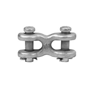 C m Corporation 3x696 3 8 Size Zinc Plated Forged Steel Double Clevis Link