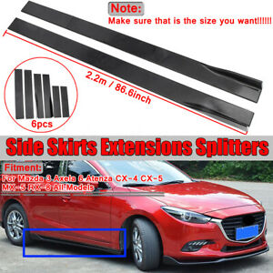 For Mazda 3 Axela 6 Atenza Cx 4 Cx 5 Mx 5 Rx 8 Side Skirts Extension Panel 86 6