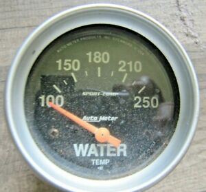 Autometer Black Face Water Temperature 250 Degree Gauge Nice Vintage Part