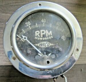 Wico Vintage 8000 Rpm Chrome Tachometer Extremely Rare Vintage Racing Part