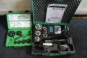 Greenlee Model Ls50l 18v Hydraulic Knockout Set 1 2 2 Stainless