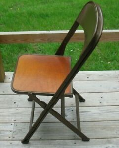 Vintage Metal And Wood Folding Chair Made By Clarin Mfg Co Chicago Illinois C