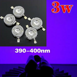 3w High Power Led Lamp Bead Light Purple Light Diy Chip 390 400nm 45mil Star Pcb