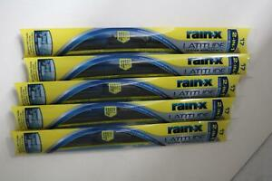 5 Pack Lot Rain x Latitude 17 Water Repellency Windshield Wiper Blades