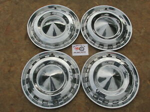 1956 Chevy Bel Air Two Ten 150 Nomad 15 Wheel Covers Hubcaps Set Of 4