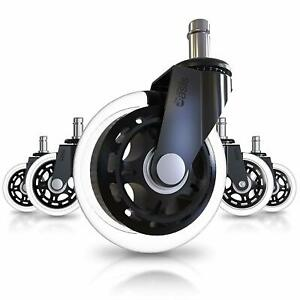 Caster Wheels Office Chair Rollerblade Replacement Heavy Duty Set Of 5