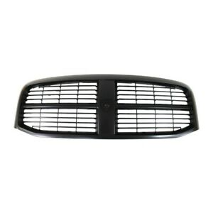 Front Black Grille With Insert Fits 06 07 08 Dodge Ram 1500 2500 3500 Ch1200280