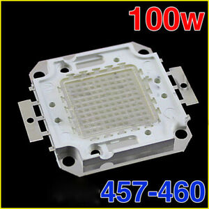 100w Blue Integrated Smd Led Chip High Power Bulb Floodlight 457 460nm Lamp Bead