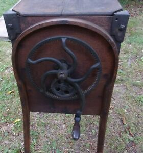 Antique Bent Wood Butter Churn M Brown Co Dated 1877