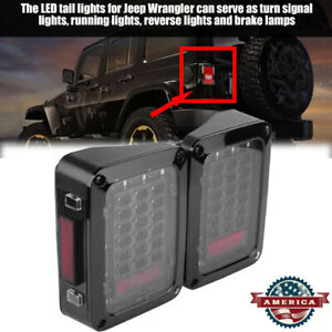 1pair Auto Led Tail Lights Brake Lights Fit For Jeep Wrangler Jk 2007 2016 Usa